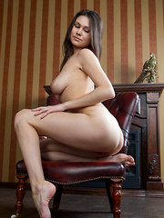 A breathtaking view of Haleen's womanly curves which includes her magnificently large and puffy breasts, meaty butt, and shapely thighs.